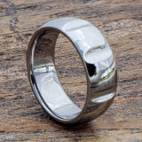 8mm vulcan polished unique rings