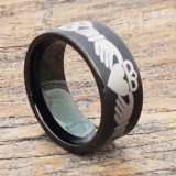 best friend black brushed claddagh rings