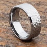 beveled hammered rings