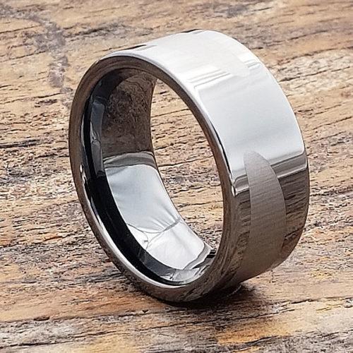 Trojan Gunmetal Black Ice Unique Rings