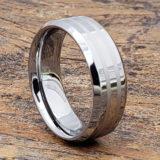 leda matching engraved inlay rings