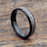 promise black beveled claddagh rings