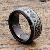 promise men irish black beveled claddagh rings