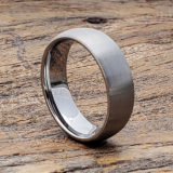 7mm brushed tungsten rings