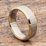 7mm dublin gold beveled infinity rings