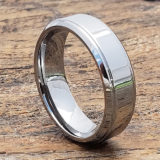 7mm polished womens tungsten rings