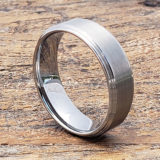7mm satin brushed tungsten rings