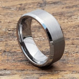 8mm compromise tungsten wedding bands