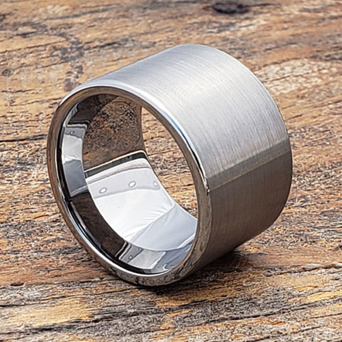 Europa Brushed Mens Statement Rings