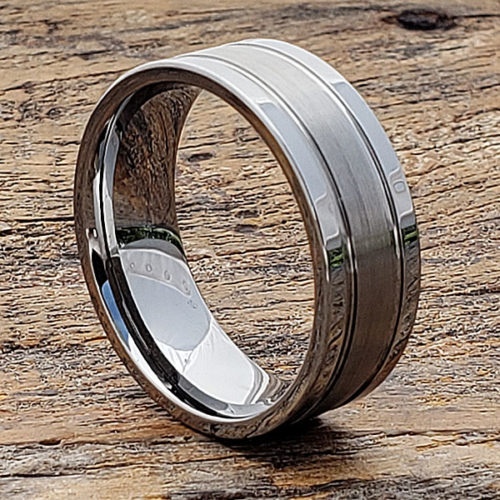 Serpico Classic Matte Tungsten Wedding Bands