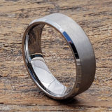 cross brushed tungsten rings