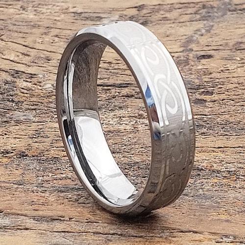 Dublin Beveled Symbol Infinity Rings