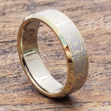 gold knot beveled infinity rings