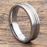 machined perfect tungsten wedding bands