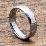 reflective mens faceted tungsten rings