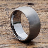 textured satin brushed tungsten wedding bands